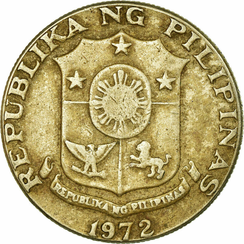 [#780201] Coin, Philippines, 50 Sentimos, 1972, VF(30-35), Copper-Nickel-Zinc