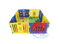 Plastic playpen (5ft x 5ft) - very sturdy