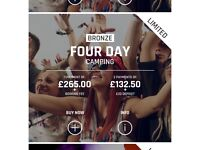 Creamfields Bronze 4 day camping ticket with Parking