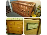 Mamas and papa's cot bed and changer drawer