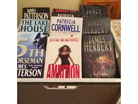 Job lot of 30 hardback crime novels £25