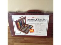 Bourne and Hollins 92 piece Art Set and Deluxe Hobby-craft Tool Set