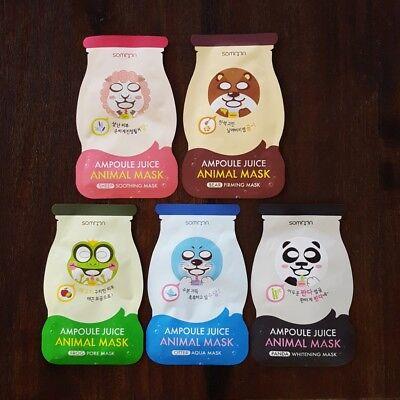 New Somoon K Beauty Korean Animal Fun Face Facial Skin Sheet Mask Pack   10 Pcs
