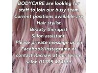 Hairdressing & beauty therapist required