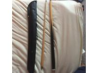 SNOOKER CUE STICK WITH LEATHER POUCH