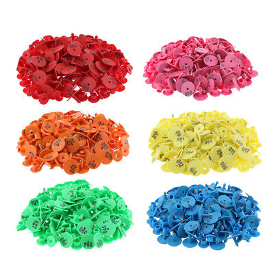 6-color 600pcs Small Pre Numbered Livestock Ear Tag For Pig Cow Goat Sheep.