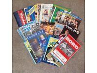 Large bundle of football programmes