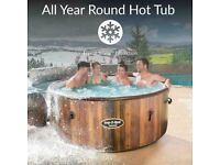 Lay Z Spa Helsinki 7 Person Hot Tub NEW - All Year Inflatable Lazy Jacuzzi