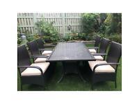 Rattan 6 seat garden set