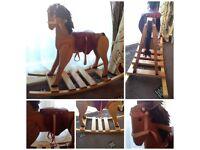 hand made rocking horse wood rocking horse children's horse great present