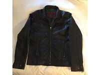 Superdry SpeedSport Leather Jacket Brown size XX-Large