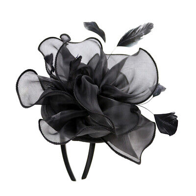 Vintage 20s Gatsby Feather Hat Clips Fascinator Charleston Party Flower (Charleston Headwear)