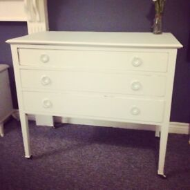 Antique chest of drawers on wheels