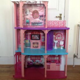 BARBIE Three storey Luxury Dollhouse Townhouse Mansion - good clean condition - BARGAIN RRP £100+