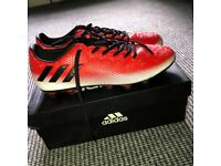 Red/Black Adidas messi football boots
