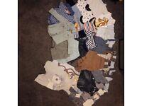 Spring/Summer 0-3 baby clothes bundle.