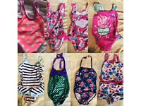 Girls swimming costumes
