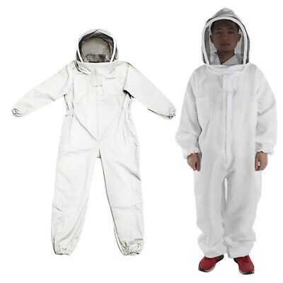 Size Xxl Beekeeper Full Body Protective Suit Hat Sleeve Bee Keeping Jacket