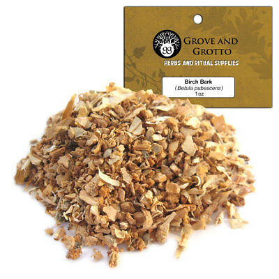 Birch Bark 1 oz Package Ritual Herb Birch Tree ORGANIC  C/S by Grove and Grotto