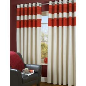 Nautical/Red Eyelet Curtains