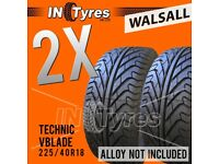 2x 225/40R18 Technic Vblade Sport Tyres Fitting Available 225 40 18 Tyres x2