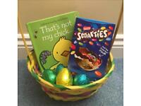 Easter baskets with chocolate and books - from only £6.99 delivered!