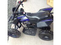 Kids quad bike 50cc in black/ blue