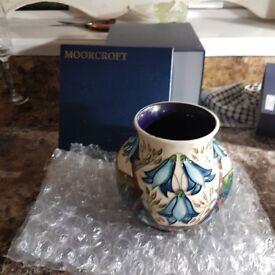 Moorcroft vase with box