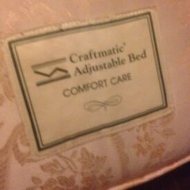 King size Craftmatic adjustable bed