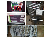 NEW 3,7 M multi purpose ladder an 5 dust sheets and edger tool £60