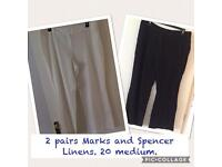 Ladies linen summer trousers M&S 20