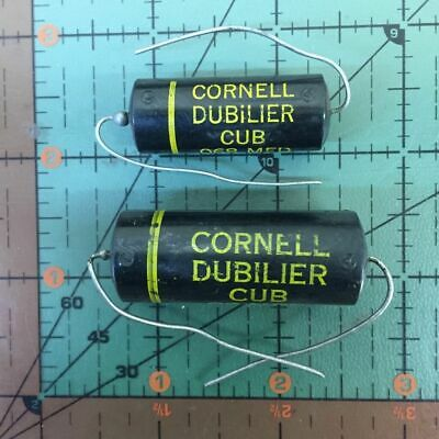 Cornell-dubilier Axial Film Capacitor 500pf 1000v Cub10t5 .0005uf Vintage Audio