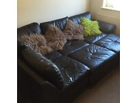 £50 Sofa L shaped, double bed pull out