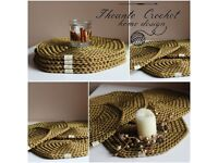 High quality handmade placemats, runners, coasters, etc.
