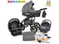 3 in 1 Travel System Moedrn Baby Pram Pushchair Stroller Buggy