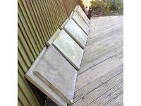 10 plain Concrete paving slabs 60cm x60cm (2ft square). Heavy duty high quaility