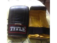 TITLE Boxing Gloves Hardly Used, Small