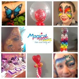 Face painting party balloons candy bar christening communion