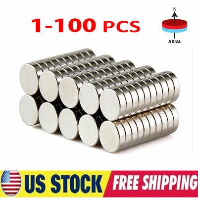 1-100pcs N35 10 X 3mmsuper Strong Magnets Round Disc Rare Earth Neodymium Us