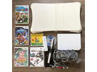 NINTENDO WII CONSOLE, WII FIT BOARD, GAMES AND REMOTE