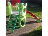 Children's slide and climbing frame