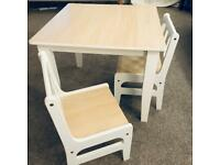 Toddlers table and chair set