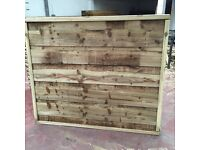 Super heavy duty waneylap fence panels 10mm boards pressure treated