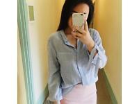 Silky blue shirt