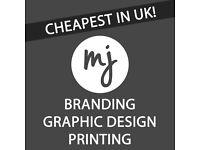 CHEAPEST IN UK graphic design, web design & printing!