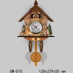 9'' Antique Style Carved Cuckoo Wall Clock Pendulum Clock Craft Art Clock Gift J