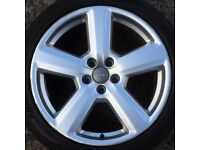 """1 Audi RS6 18"""" Alloy Wheel A4 rim 5 spoke b6 b7 Farroad Tyre 245 40 A6 a3 vw 112"""