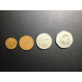 Irish coin set of 4