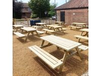 Pub Bench | Picnic Bench | Garden Table | FREE delivery Norwich | 4ft 5ft 6ft available