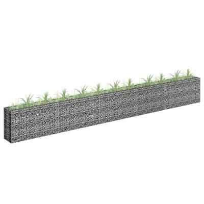 vidaXL Gabion Raised Bed Galvanised Steel 450x60cm Garden Gabion Basket Pot